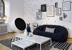 Casa DecoraBelle: Décor e Moda: Poá: moda e decoração
