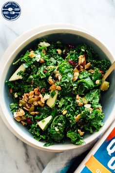 """Kale & Apple Salad with Granola """"Croutons"""" - Cookie and Kate Side Dish Recipes, Side Dishes, Kale Apple Salad, 12 Tomatoes Recipes, Create A Recipe, Big Salad, How To Make Salad, Honey Mustard"""