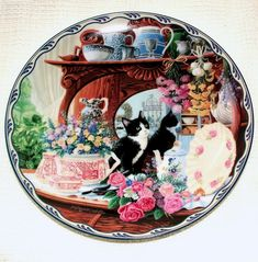 Warm Country Moments Cat Plates Ebay Uk