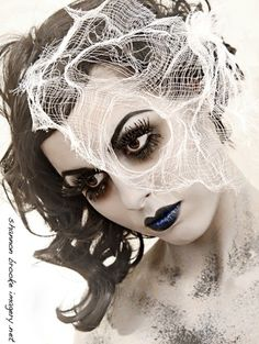 Awesome Makeup and Hair by lou- love the use if the spiders web in the hair looks really effective in creating the dead element.