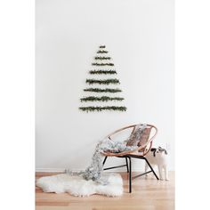 diy makeshift xmas tree wall hanging almost makes perfect via Polyvore featuring home, home decor, wall home decor, modern home decor and modern home accessories