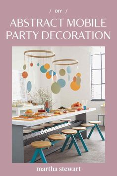 Make a fun DIY geometric mobile hanging decoration at-home in just a few steps by following our step-by-step tutorial. This kid-friendly craft is an easy way to decorate any child's room or as a hanging party decoration. #marthastewart #crafts #diyideas #easycrafts #tutorials #hobby Best Baby Gifts, Diy Baby Gifts, Personalized Baby Gifts, Mosaic Kits, Wall Stickers Murals, Diy Home Decor Projects, Diy Wall Art, Nursery Decor, Construction Paper