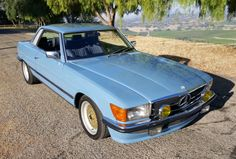 Bid for the chance to own a Euro 1981 Mercedes-Benz at auction with Bring a Trailer, the home of the best vintage and classic cars online. Mercedes Slc, European Models, All Season Tyres, Blue China, Classic Cars Online, Rear Window, Car Ins, Automobile, Screen Shot