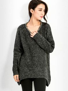 Studded Marled Knit Top $38.99 Purchase over $55 and get Extra 10% OFF on this product.Use Code: EXTRA10