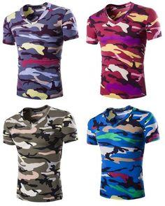 14cf4745f7babe Mens Modern Camo Stylish Camouflage T-Shirt Stylish Outfits