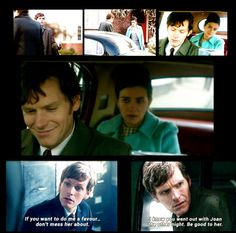 Endeavour episode Home.... I love how confused Endeavour is when Thursday said he went on a date with Joan....He did not....I also loved how sweet Thursday was about it.