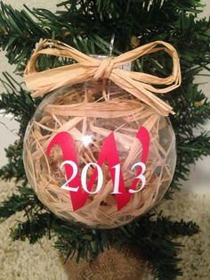 Rustic Christmas Ornament / Personalized Rustic by KraftyKaboodles, #Christmas Decor| http://christmas-decor-styles.lemoncoin.org