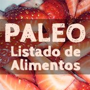 Listado de alimentos Paleo