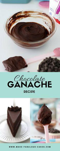 Decadent Chocolate Ganache Recipe By Make Fabulous Cakes