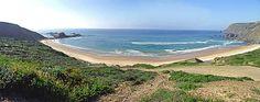 Portuguese Ponta Ruiva Beach in Algarve (Sagres)