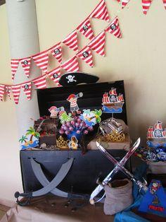 Si vas a organizar una fiesta pirata esta idea de decoración te será de gran ayuda #party #decoracion