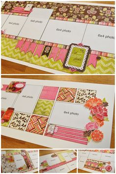I LOVE scrapbook generation!  They always have the cutest layouts!!  These patterns are to die for, and the layouts are always top-notch.
