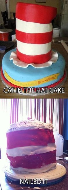 Funny pictures about Cat in the Hat Cake. Oh, and cool pics about Cat in the Hat Cake. Also, Cat in the Hat Cake photos. Funny Cat Fails, Funny Puns, Hilarious, Funny Stuff, Funny Things, Funny Shit, Funny Quotes, Funny Humor, Random Stuff