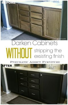 Darken Cabinets Without Stripping the Existing Finish