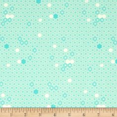 Michael Miller The Highlands Geometry Of Bees Turquoise - Discount Designer Fabric -  Fabric.com
