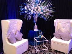 High-back custom made white leather tufted chairs. These are a nice way to spice up an event #Chicago #Atlanta
