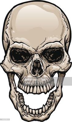 Skull With Wide Open Mouth Illustration , Skeleton Drawings, Skeleton Art, Cool Skull Drawings, Skull Artwork, Skull Painting, Skull Open Mouth, Open Mouth Drawing, Airbrush Skull, Tattoo Caveira
