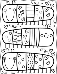 Coloring Club Library — From the Pond Cute Coloring Pages, Free Printable Coloring Pages, Free Coloring, Adult Coloring Pages, Coloring Pages For Kids, Coloring Sheets, Coloring Books, Mandalas Tattoos, Diy For Kids