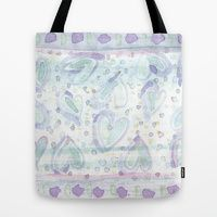 Hearts & Sprinkles Tote Bags by #ArtsyCrafteryStudio | Society6, Valentine's Day, love, romance, blue, purple, mauve, turquoise, blue green