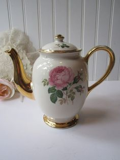 Vintage Kingwood China Pink Rose Teapot by jenscloset on Etsy, $26.50
