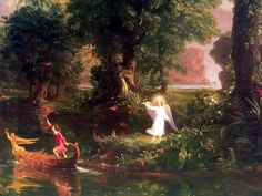 "Thomas Cole - Voyage of Life series - ""Youth"""
