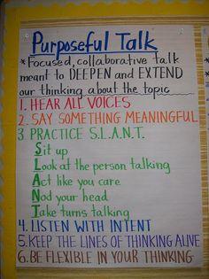 Purposeful Talk. Thinking, listening and talking.