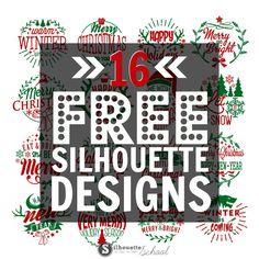 16 Free Silhouette Christmas Designs | Silhouette School | Bloglovin'