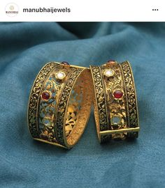 Antique Bracelets, Antique Jewelry, Gold Jewelry, Gold Ring Designs, Gold Bangles Design, Fancy Jewellery, Jena, Choker, Jewerly