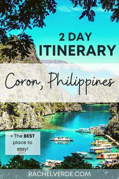 Use this concise itinerary to plan your trip to Coron, Philippines! Includes recommendations for hotel, transportation, food and entertainment. #travel #asiatraveltips #itinerary #philippinesitinerary