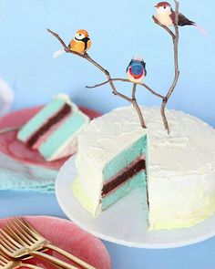 Day 2 of Birthday Week! What's a party without cake? I'm calling this the twig Cupcakes, Cake Cookies, Cupcake Cakes, Pretty Cakes, Beautiful Cakes, Amazing Cakes, Bird Birthday Parties, Birthday Week, Happy Birthday