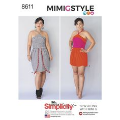 Simplicity 8611 Miss and Miss Petite Dress and Romper by Mimi G Style sewing pattern