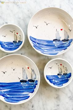 Beautiful sailboat ceramic bowls handpainted in Sicily. Inspired by the Ionian sea, this sailboat gift will bring color and conversation to the table. Choose from two sizes or bundle a few together for the perfect sea decor gift. #seadecor #beachdecor #sailboat #sailboatdecor #ceramicbowl #ceramicbowls #handpainted #handpaintedceramic #handpaintedgift #artisanmade #shopsmall #madeinItaly #Italiangifts