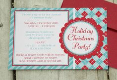Christmas Template For Word Christmas Party Invitation  Download & Edit Template  Party .