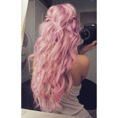 Pastel Pink Hair ❤ liked on Polyvore featuring hair and hairstyles