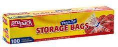 Propack Storage Bags, Original Twist-tie, Gallon Size 100 Bags Pro Pack http://www.amazon.com/dp/B00CEYXJEY/ref=cm_sw_r_pi_dp_7iALtb00R7RRQ3D7