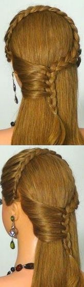lace braids with mermaid braid side accent