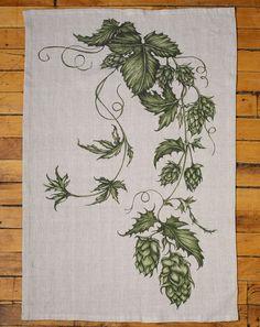 Tea Towel: Hops Vine