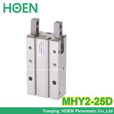 43.42$  Buy now - http://ali18m.worldwells.pw/go.php?t=32691959687 - High quality double acting pneumatic gripper MHY2-25D SMC type 180 degree angular style air cylinder aluminium clamps 43.42$