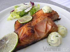 Losos na zázvoru s citronovým máslem - Steak, Pork, Fish, Kale Stir Fry, Pigs, Steaks, Beef, Ichthys