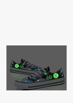 This item is shipped in 48 hours, included the weekends. These fantastic canvas glow in the dark shoes will make sure that people will keep their eyes on you even in the darkest places. Made of a high