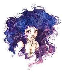 Resultado de imagen de cabello de galaxia  Dibujo