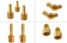 Brass Hose Barbs Hose Fittings #BrassHoseBarbs #HoseFittings Brass Fittings, Tree Branches, Art Pieces, Tube, How To Make, Art Work