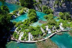 Nationale parken: Plitvice meren Kroatië
