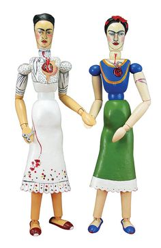 The Two Fridas Art Doll  OOAK Sculpture  Articulated by ArtDuritos, $196.00