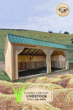 Outdoor Storage Sheds, Shed Storage, Tractor Shed Ideas, Horse Shed, Diy Log Cabin, Diy Carport, Steel Homes, Farm Shed, Loafing Shed