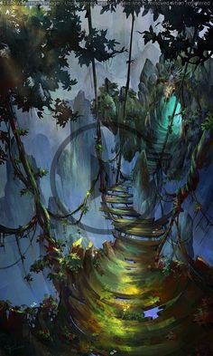2020 - Curiously concentrated and focused concept art - drawings - . - Curiously concentrated and focused concept art – drawings – - Environment Concept, Environment Design, Fantasy Places, Fantasy World, Fantasy Forest, Forest Art, Fantasy House, Forest Drawing, Forest Scenery