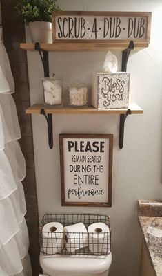 diy home decor - Please Remain Seated During Entire Performance Wood Signs Bathroom Decor Funny Bathroom Sign Over the Toilet Sign Farmhouse Sign Funny Bathroom Decor, Bathroom Humor, Bathroom Crafts, Signs For Bathroom, Bathroom Shelves Over Toilet, Bathroom Designs, Farmhouse Decor Bathroom, Kids Bathroom Organization, Funny Home Decor