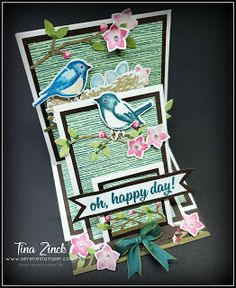 Fancy Fold Cards, Folded Cards, Stepper Cards, Anna Griffin Cards, Interactive Cards, Shaped Cards, Easel Cards, Bird Cards, Animal Cards