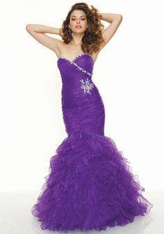 Floor Length Sweetheart Mermaid Dropped Organza Dress For Prom - Lunadress.co.uk