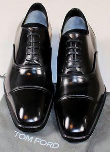 Tom Ford Shoes Black Captoe Handmade Oxford Dress Shoes